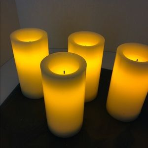 Other - Set of 4 flameless candles with timer